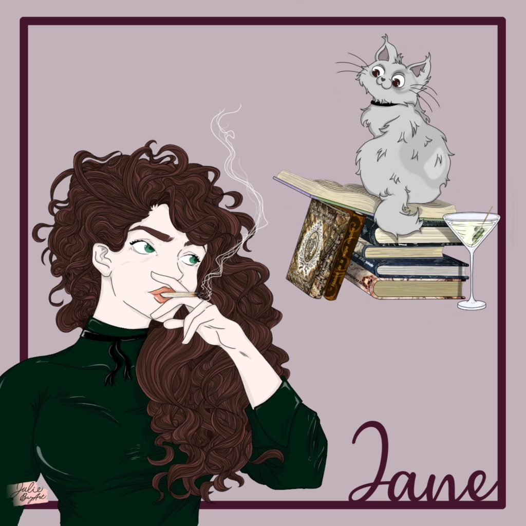 "Jane Smith A la Moldue illustration par Julie Baz""Art"